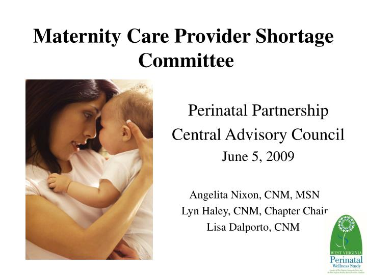 Maternity care provider shortage committee