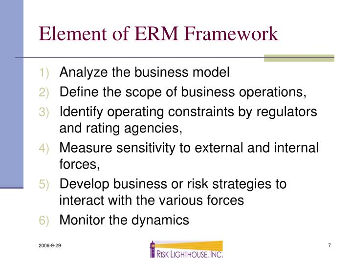 Element of ERM Framework