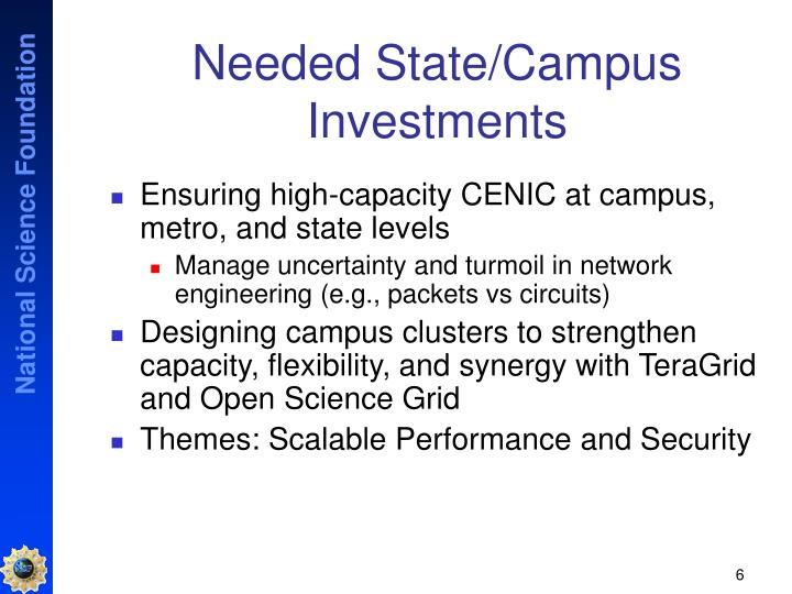 Needed State/Campus Investments