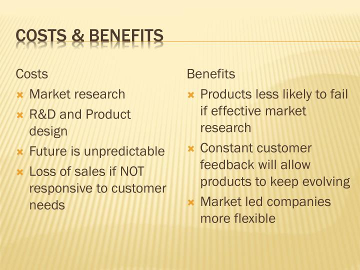 Costs & benefits