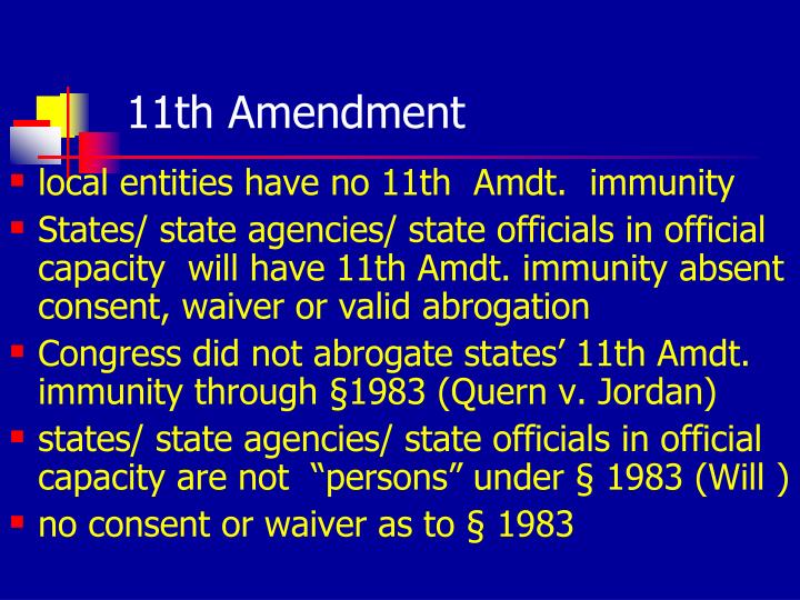 11th Amendment