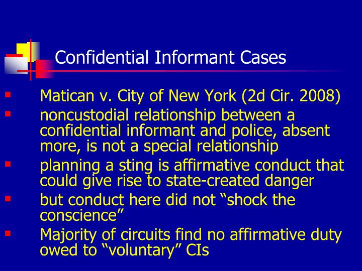Confidential Informant Cases