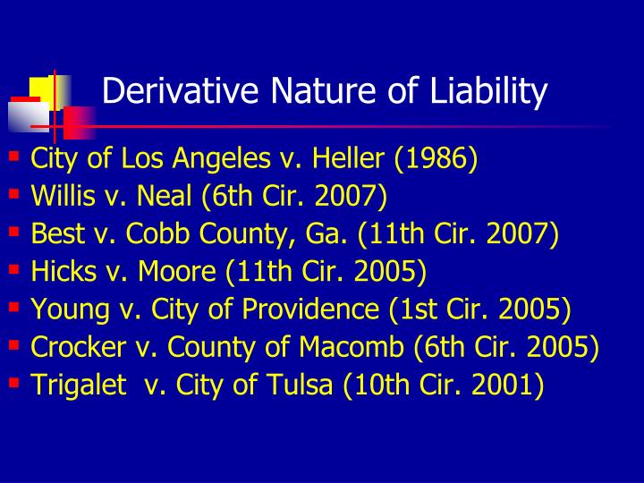 Derivative Nature of Liability