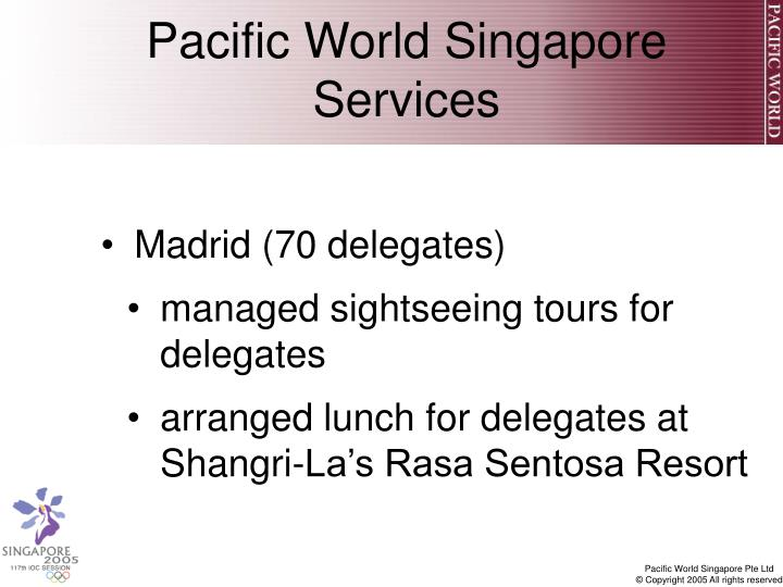 Pacific World Singapore Services