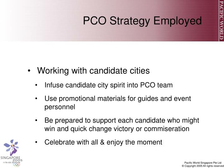 PCO Strategy Employed