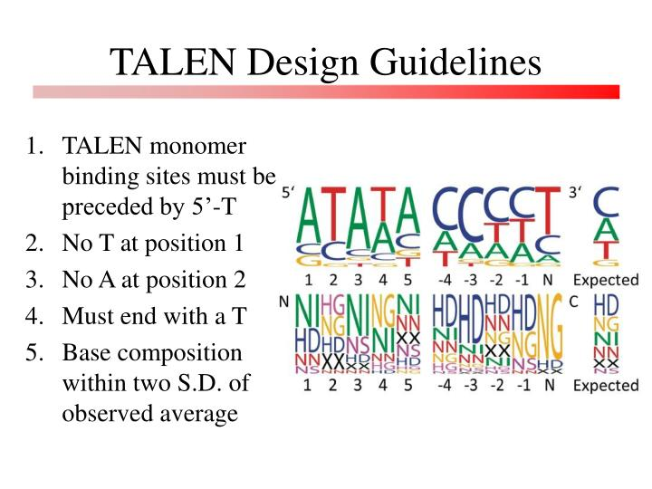 TALEN Design Guidelines