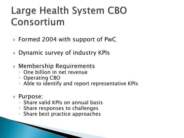Large Health System CBO Consortium