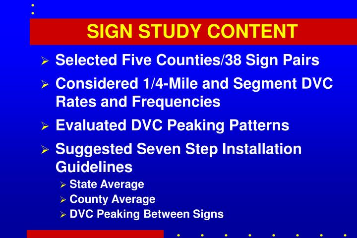 SIGN STUDY CONTENT