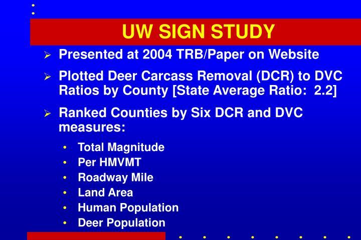 UW SIGN STUDY