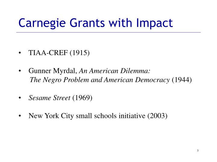 Carnegie Grants with Impact