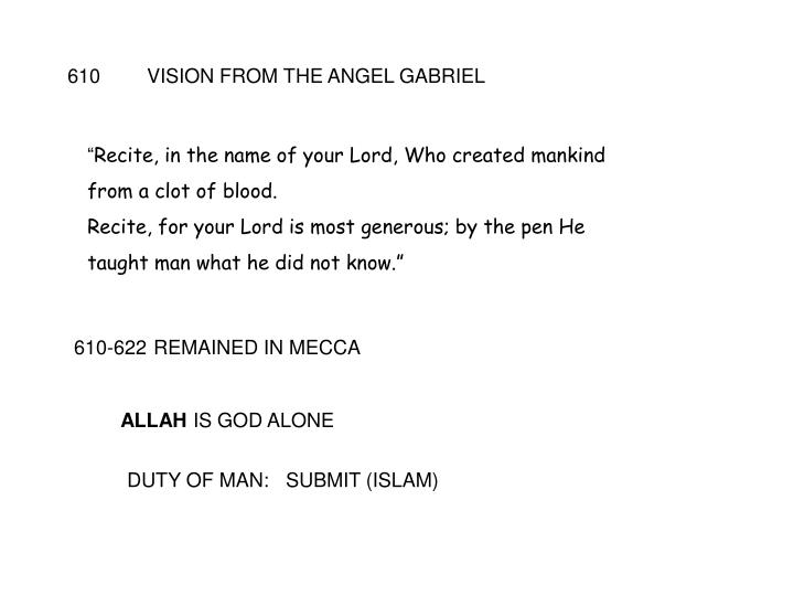 610VISION FROM THE ANGEL GABRIEL