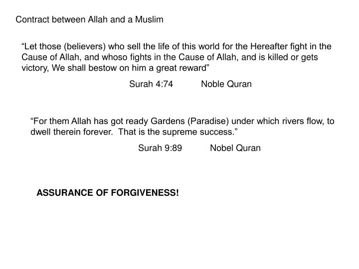 Contract between Allah and a Muslim
