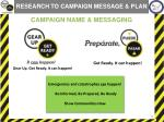 campaign name messaging