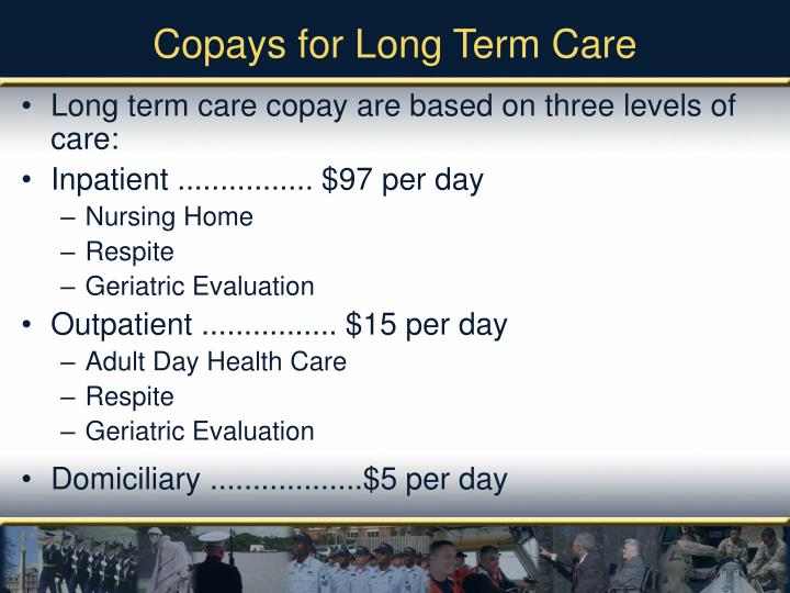 Copays for Long Term Care