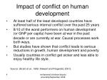impact of conflict on human development