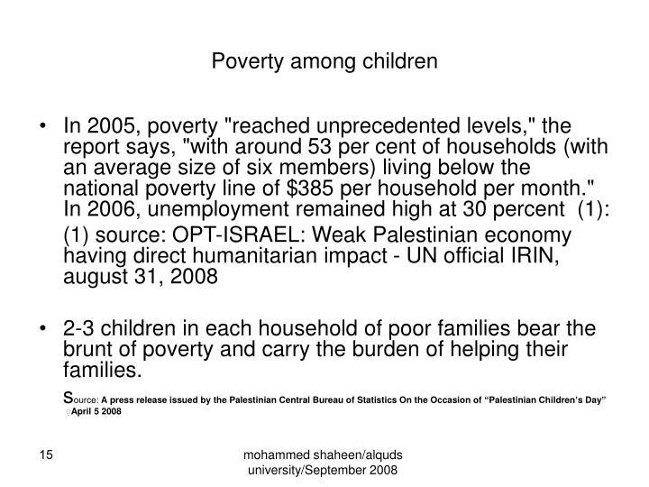 Poverty among children