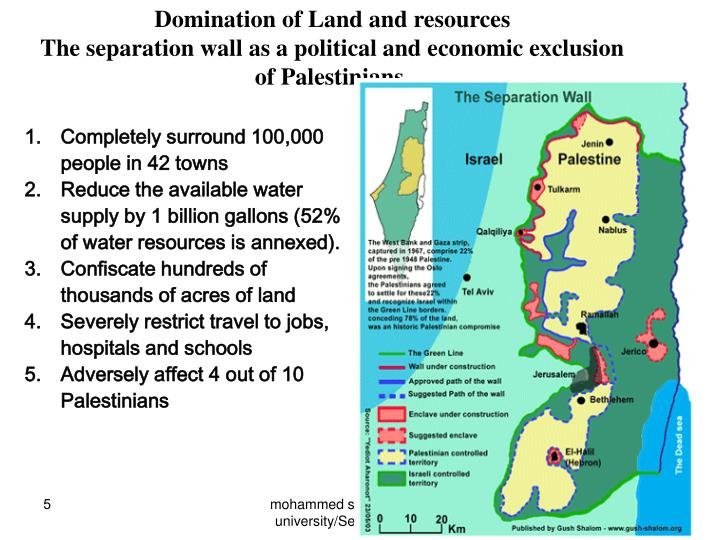 Domination of Land and resources