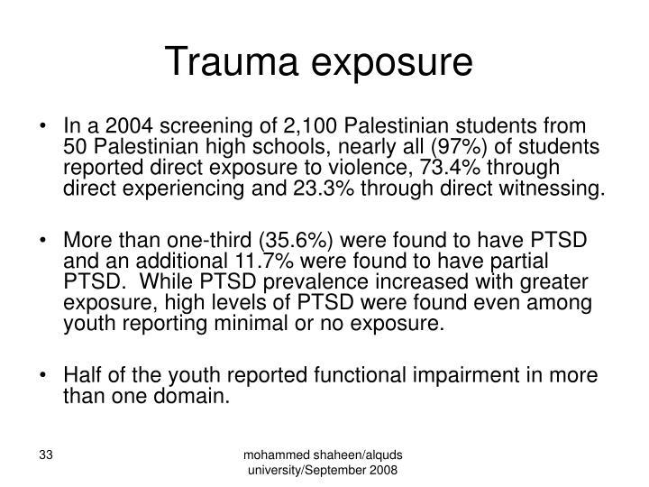 Trauma exposure