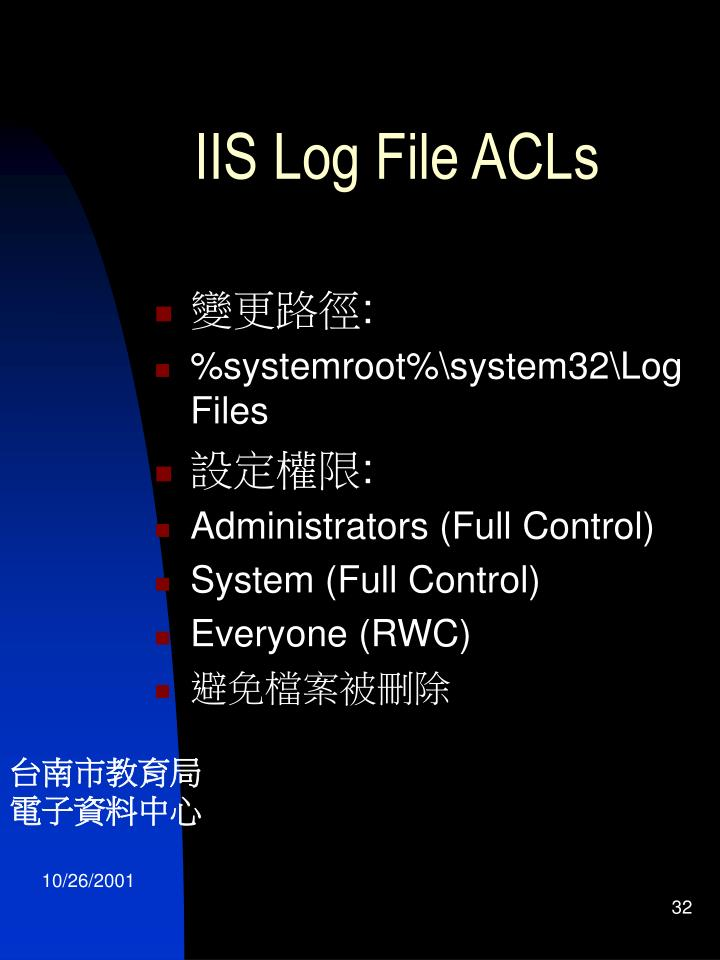 IIS Log File ACLs