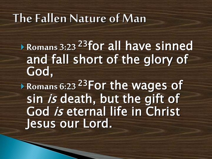 The Fallen Nature of Man