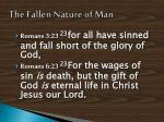 the fallen nature of man