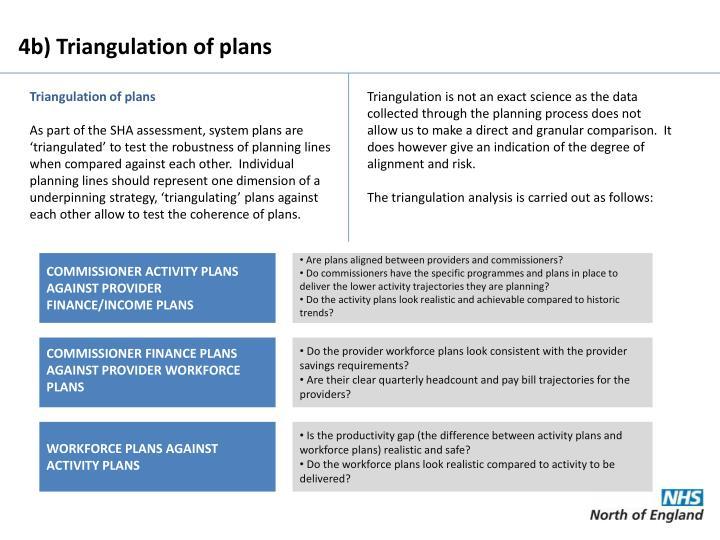 4b) Triangulation of plans