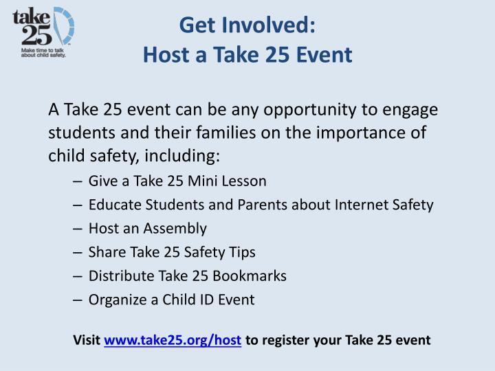 Get Involved: