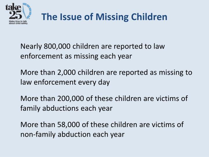 The Issue of Missing Children