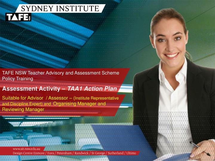TAFE NSW Teacher Advisory and Assessment Scheme Policy