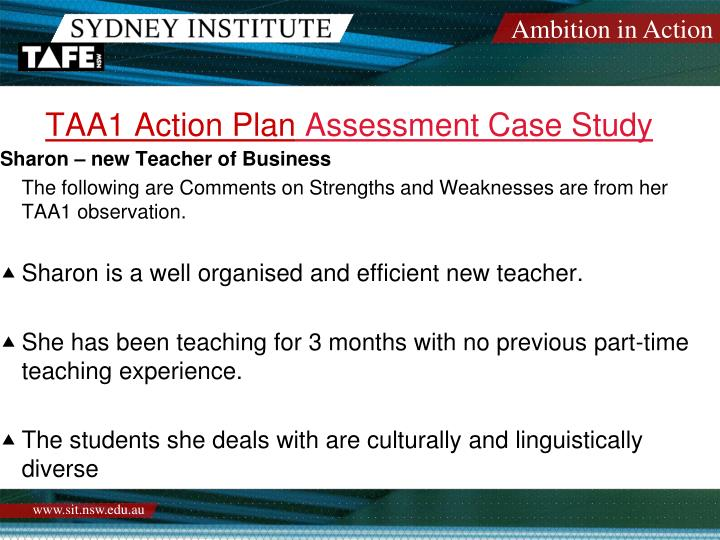 TAA1 Action Plan