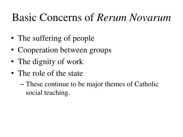 Basic Concerns of
