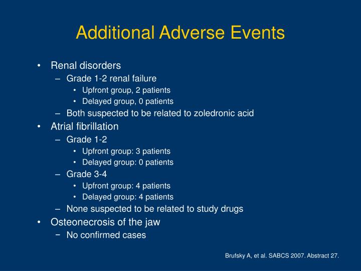 Additional Adverse Events