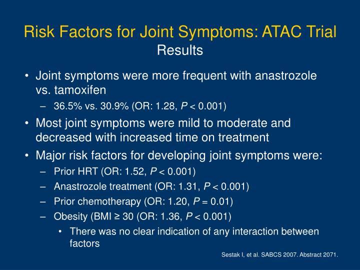 Risk Factors for Joint Symptoms: ATAC Trial