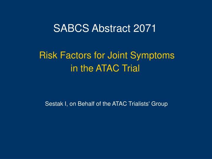 SABCS Abstract 2071