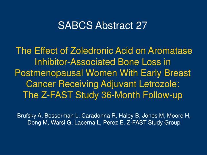 SABCS Abstract 27