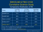 swog 8814 tbci 0100 correlative science study comparative distribution of rs