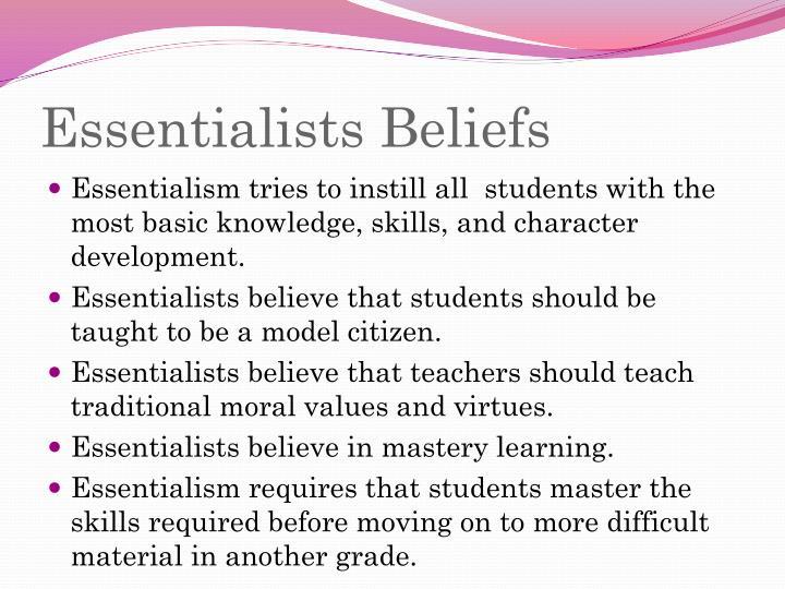 Essentialists Beliefs