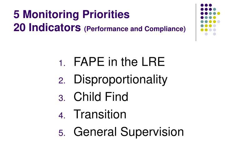 5 Monitoring Priorities