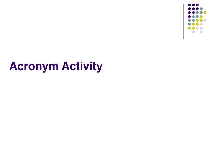 Acronym Activity