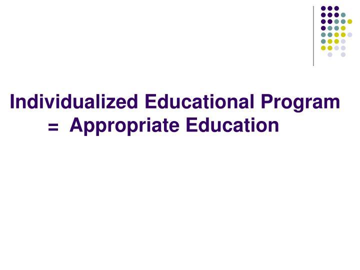 Individualized Educational Program