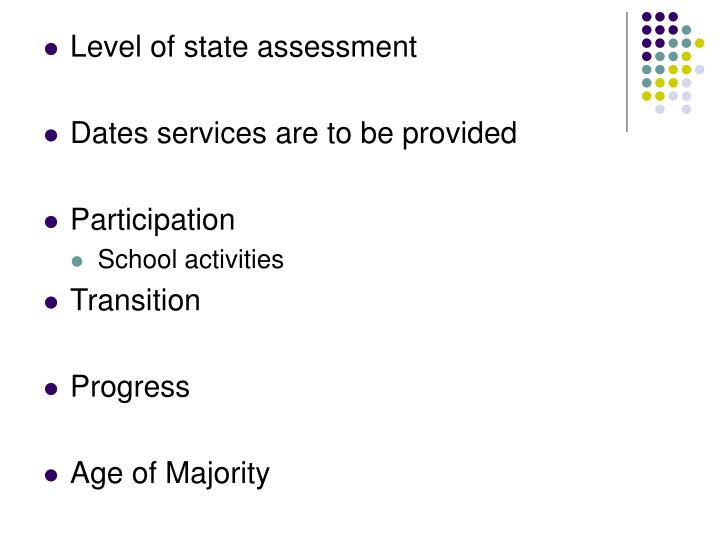 Level of state assessment