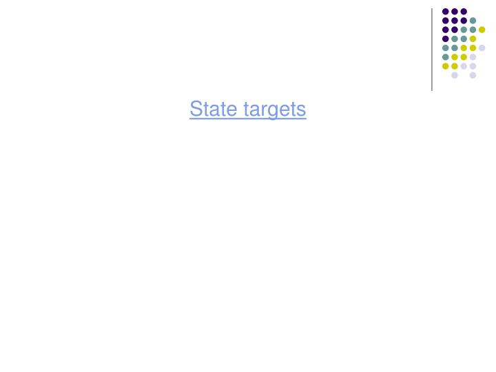 State targets