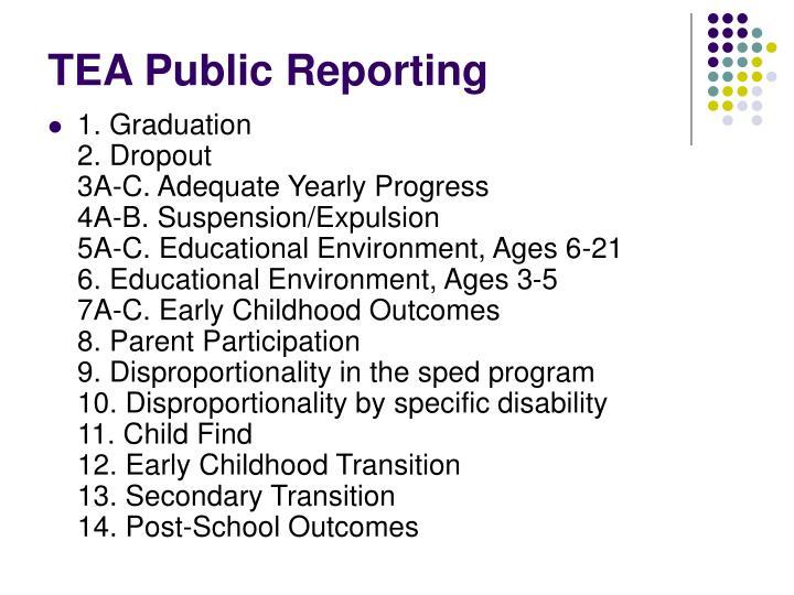 TEA Public Reporting