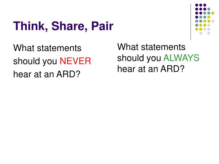 Think, Share, Pair