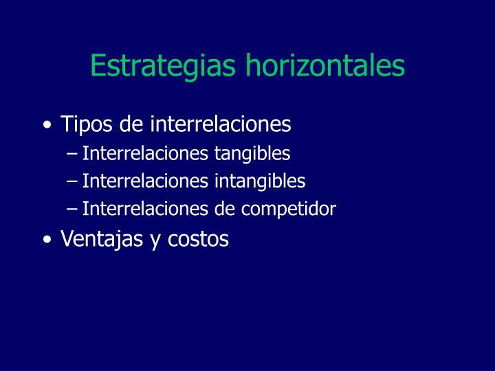 Estrategias horizontales