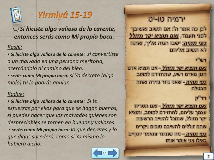 Yirmiyá 15-19