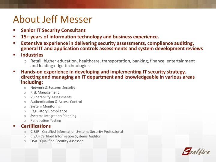 About Jeff Messer