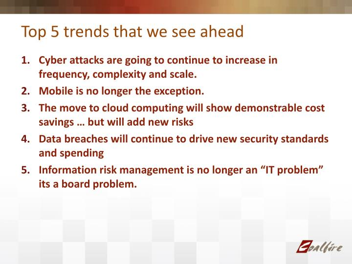Top 5 trends that we see ahead