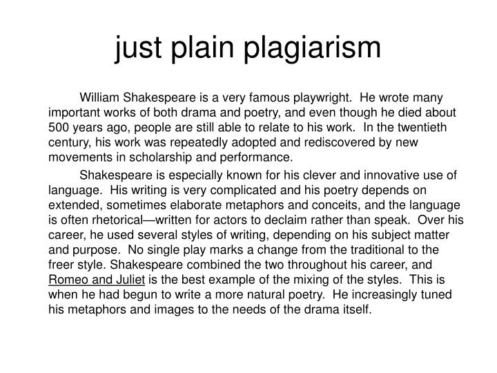 just plain plagiarism