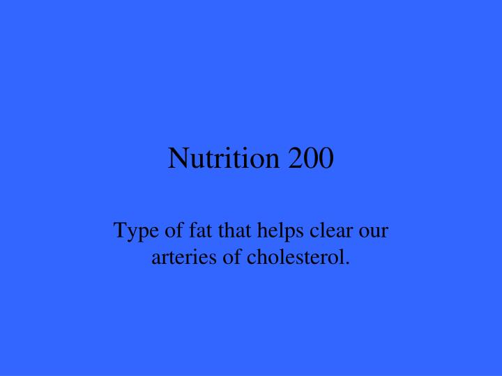 Nutrition 200